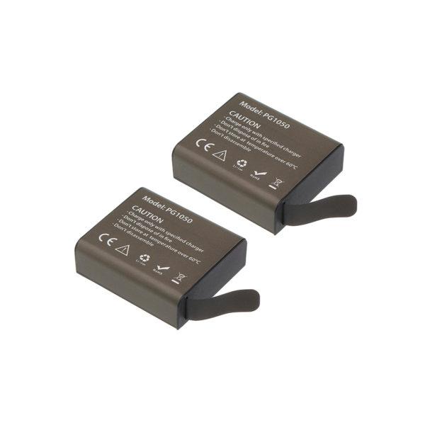 شارژر باتری دوربین ورزشی کد H9R به همراه 2 عدد باتری