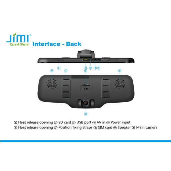 دوربین فیلم برداری و ردیاب آنلاین خودرو جیمی Jimi مدل JC900